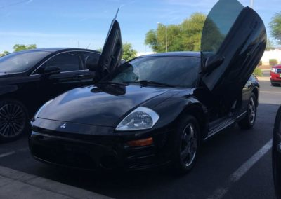 Side Angle View of a Mitsubishi Eclipse